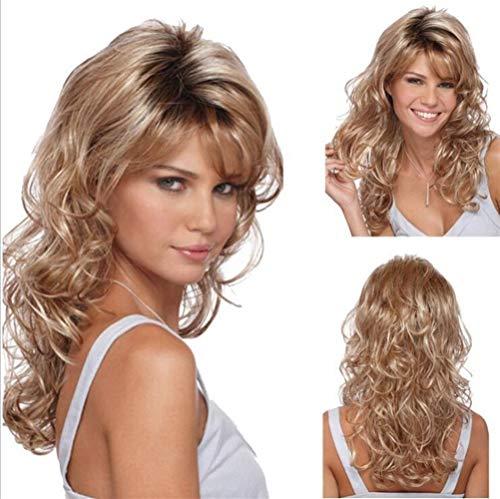 ZHML Europäische Und Weibliche Foresighted Lockiges Haar Perücke Goldhaar Ebay Selling (Color : Gold)