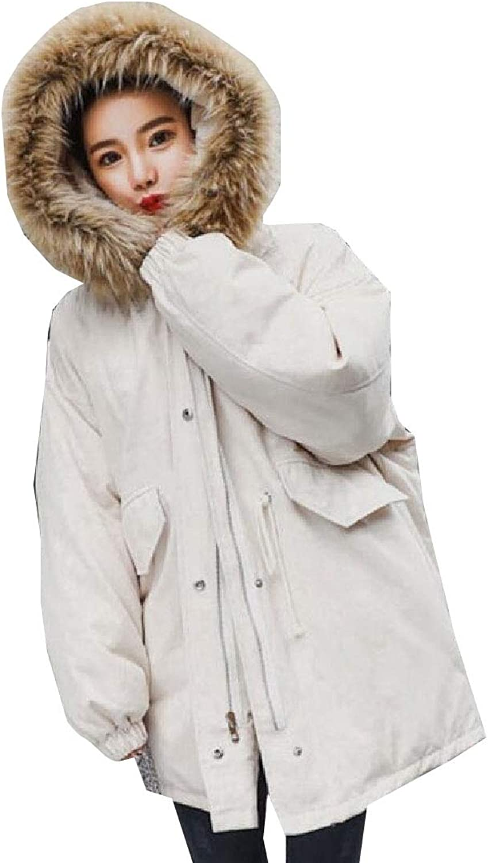 Maweisong Women's Fur Hoodie Thicker Outwear Coats Down Jacket LongSleeved