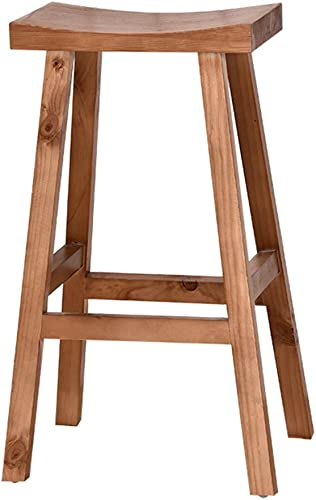 WZLDP Chaise de Bar Tabourets de Bar Tabourets de déjeuner Chaises de comptoir Chaises de Bar en Bois Massif Chaises de Bureau Tabourets Vintage Retro Chaise (Taille   65cm)