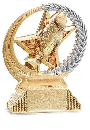 DEPICE Adultos Pesca Trofeo/Trofeo, Plata/Oro, 13cm