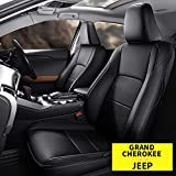 AOMSAZTO Custom Fit for Jeep 2011-2021 Grand Cherokee Faux Leather Car Seat Covers Full Set Compatible Airbag Grand Cherokee Seat Protector Black