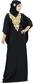 black and gold abaya