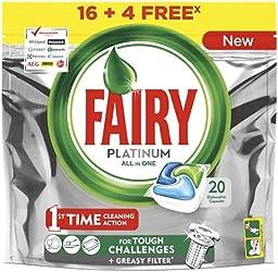 Fairy Platinum Original Detergente - 20 cápsulas