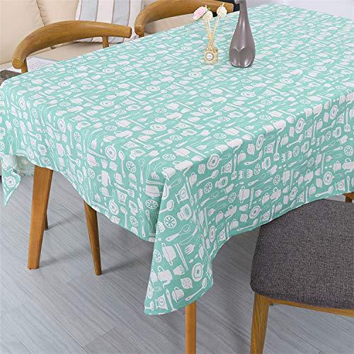 Creek Ywh Nordic Simple tafelkleed, geel met witte en witte stippen van grenenhout, theedoek van katoen en linnen, rood voor slaapkamer, tafelkleed, 100 x 140 cm