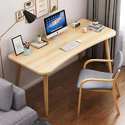 FSXJD Moderno Simple Mesa para Ordenador portátil Fácil instalación Escritorio de Ordenador Estación de Trabajo Madera Hogar Escritorio de Oficina Escritorio para oficina-90x40x73.5cm(35x16x29inch) A