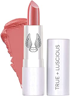 Super Moisturizing Lipstick by Luscious Cosmetics - Unique Smooth & Creamy Formula - Vegan | Cruelty Free | Lead Free | Color - Just Peachy - 0.12 Ounce