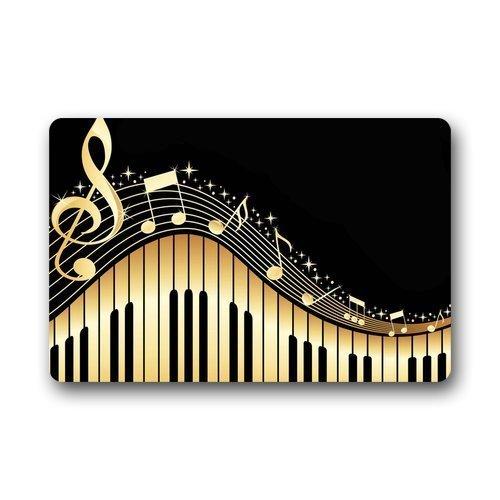 CHANGSHABF Deurmat Personaliseren Decor Tapijten ? Deur Matten Piano Muziek Deurmatten Top Stof & Rubber Binnen Outdoor S Gebied Tapijten Entryway Matten Antislip Rubber Backing 60Cm X 40Cm