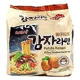 Samyang Ramen Korean Noodles, Variety Selection (삼양 라면) (Potato Ramen, 5 Pack)