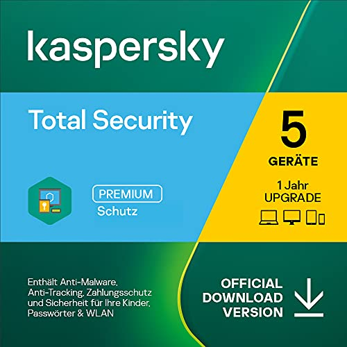 Kaspersky Total Security 2021 Upgrade   5 Geräte   1 Jahr   Windows/Mac/Android   Aktivierungscode per Email