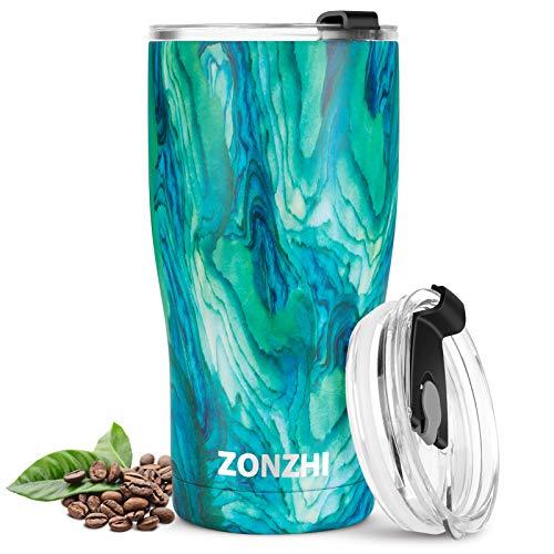 ZONZHI Termo Cafe, 500ML Taza Termo de Acero Inoxidable, a Prueba de...