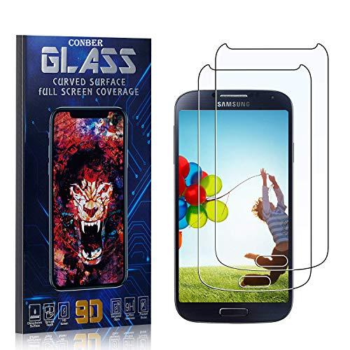 Conber, 2 Pezzi, Pellicola Vetro Temperato per Samsung Galaxy S4, [9H Durezza][HD Chiaro][Senza Bolle] Protezione Schermo Pellicola Protettiva per Samsung Galaxy S4