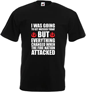 Brand88 - The Fire Nation Attacked, Mens Printed T-Shirt