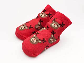 Tony plate, Tony plate Calcetines navideños Calcetines de algodón Calcetines de Papá Noel Niños Invierno Niño Calcetín navideño Calcetines Antideslizantes para bebés 3M