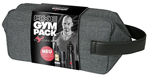 Axe Gympack Flying Uwe inklusive signierter Trinkflasche (1x 200ml, 1x 150ml)