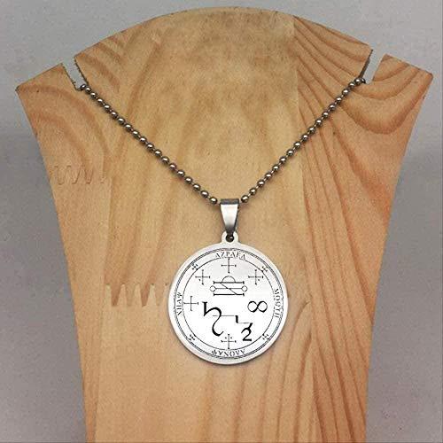 LBBYMX Co.,ltd Necklace Fashion Personality Disc Necklace Seal of 7 Archangel Michael Raphael Uriel Pendant Necklaces Jewelry Friend