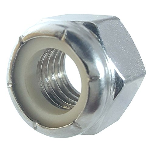 50 PCS Self Clinching Nuts Favordrory M6 x 1.0mm 304 Stainless Steel Self-Lock Nylon Inserted Hex Lock Nuts