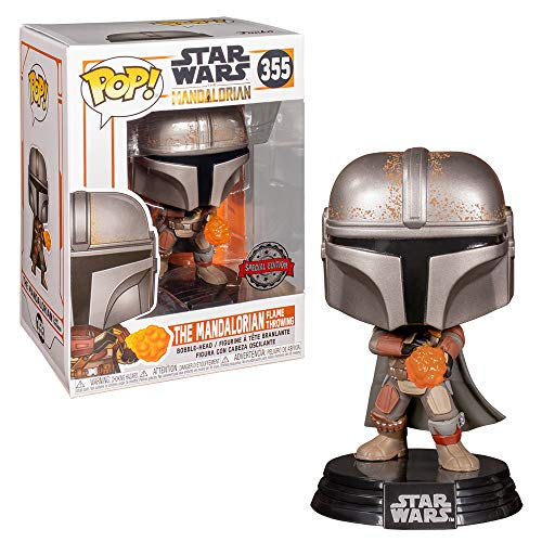 Funko Pop Star Wars The Mandalorian with Flame Exclusivo