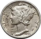1944 unknown Mercury Winged Liberty Head 1944 Dime United Stat coin Good