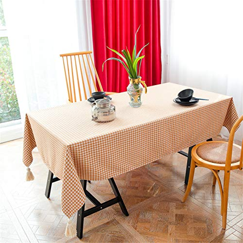 Manteles Rectangulares De Poliéster para Restaurantes Caseros, Toallas para Cubrir El Mantel De Té, Manteles Redondos, Manteles Cuadrados, Manteles A Cuadros Naranjas 110x110cm