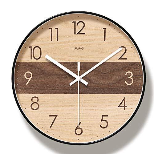 WWJJTT Home Decoration Uhr Klassische stille Wanduhr 10 Zoll / 12 Zoll / 14 einfache Wohnzimmer Schlafzimmer Uhr-Vierzehn Zoll