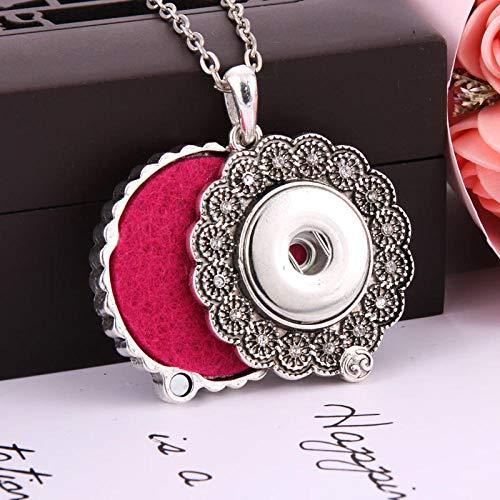 Preisvergleich Produktbild Aromatherapie AnhängerHalskette Jewelry Necklaces Rhinestone Aroma Perfume Aromatherapy Diffuser Locket Pendant Necklace Fit 18mm Snap Button Jewelry