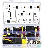 Conector Eléctrico a Prueba de Agua,240PCS Terminales de Conector Eléctrico A Prueba de Agua, Conectores Sellado Impermeable, 1/2/3/4/5/6 Pin con Fusibles de Hoja Automotriz