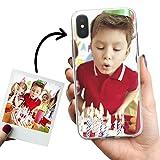 Phone Case Trends – Funda iPhone X y iPhone XS Personalizada con tu Foto o Texto – Carcasa Personalizable Gel Flexible - Funda Transparente y de Silicona - Impresión Directa en Funda