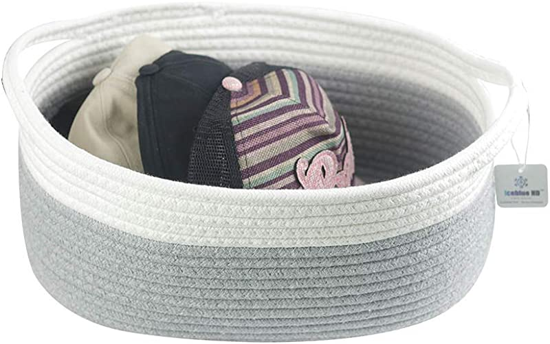 Iceblue Natural Cotton Rope Clutter Organizer Toy Chest Pet Bed Pet Toy Box