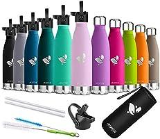 AORIN Vakuum-Isolierte Trinkflasche - Wasserflasche BPA-Frei,24 H Kühlen & 12 H Warmhalten,Ideale Thermosflasche für...