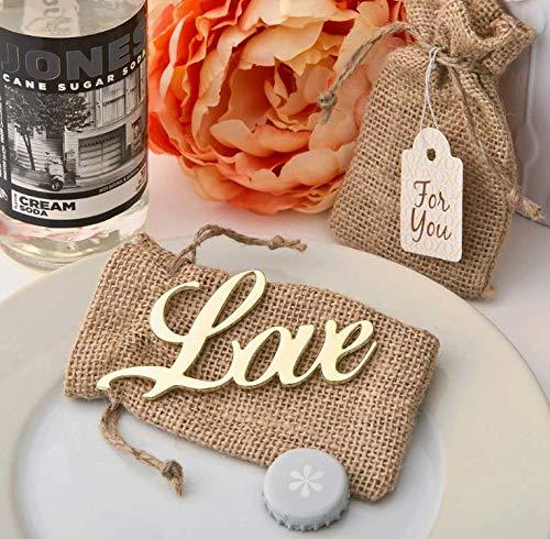 A Team Products Liebesflaschenöffner Liebesgeschenke für Liebhaber Liebesdekor Frau Bierflaschenöffner in Sackleinen Geschenkbox Liebesfeier Gefälligkeiten (Liebe)