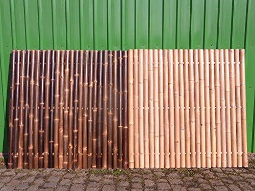 Bambuszaun Gartenzaun Bambus Sichtschutzzaun Sichtschutzwand Bambus Malaysia (90 x 180 cm Natur)