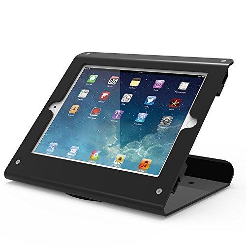 Beelta Kiosk iPad Stands - 360 Swivel Base, iPad Counter Stand for iPad Air 1,Air 2,Pro 9.7,iPad 5th,iPad 6th, Metal, Matt Black, BSC102B