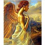 Nonebrand - Pintura al óleo para adultos y niños, diseño de ángel dorado