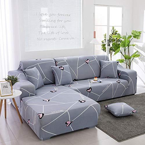 Fsogasilttlv Anti Arañazos Ajustable Protector para Sofá 1 Plaza, Funda de sofá elástica para Sala de Estar, Funda de sofá, Funda de sofá en Forma de L, Funda para Chaise de 90-140 cm