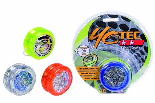 Simba 107238509 - Yotec, Flashlight, YoYo, mit Licht, innen verchromt, inklusive DVD, Sortiert