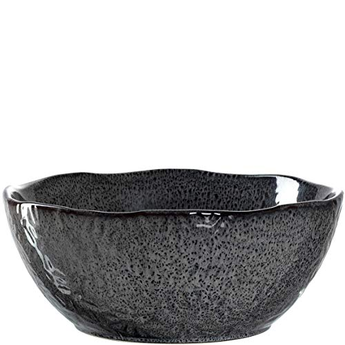 Leonardo Matera Keramik-Schale, 1 Stück, spülmaschinengeeignete Salat-Schüssel, 1 runde Schale aus Steingut, grau, Ø 23,5 cm, 2600 ml, 018584