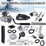 Lataw PK80 80cc Bicycle Engine Kit,2 Stroke Bicycle Motor Kit with Speedoemeter,Full Set Gas Motorized Bicycle Engine kit