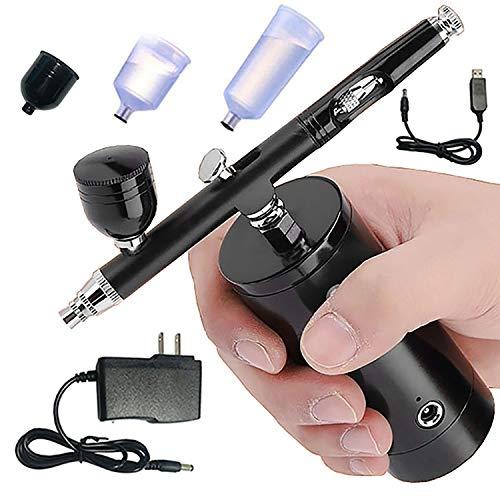 RUN.SE 0.3mm Mini Air Compressor Spray Gun Airbrush Set Facial Hydrating