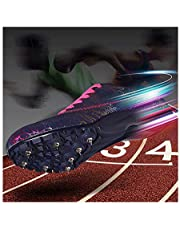 Heren atletiek schoenen unisex loopspikes kinderlooptrainingswedstrijd speciale brede spring schoenen Junior Sprint Spikes, Blue-38