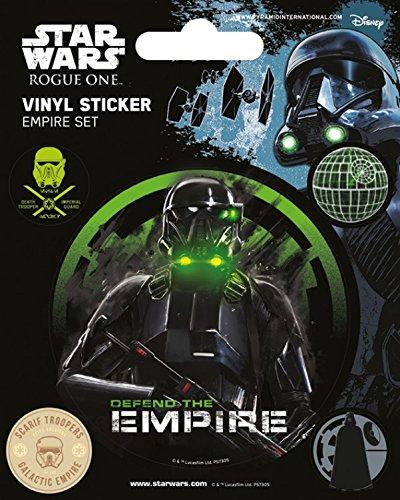 1art1 Star Wars Poster-Sticker Autocollant - Rogue One, Empire (12 x 10 cm)