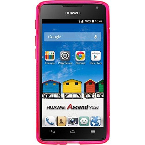 PhoneNatic 2 x Glas-Folie klar kompatibel mit Huawei Ascend Y530 - Panzerglas für Ascend Y530 - 2