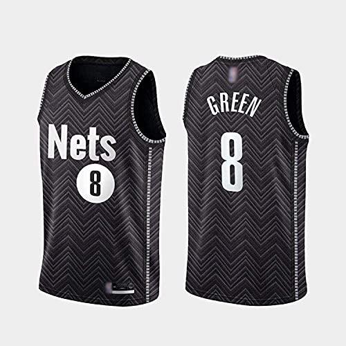 Haoshangzh55 Jersey De Baloncesto para Hombre - NBA Brooklyn Nets # 8 Jeff Green, Hombre Transpirable Jersey Fans Sin Mangas Chaleco De Baloncesto Camiseta,XXL(185~190CM)