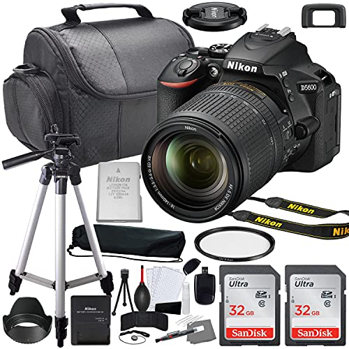 Nikon D5600 DSLR Camera with 18-140mm VR Lens Bundle (1577) + Accessory Kit Including 64GB Memory, UV Filter, Camera Case & More