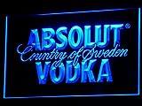 Absolut Wodka LED Leuchtschild Leuchtwerbung Reklame Bar Club Kneipe Bistro