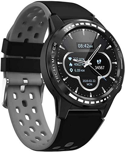 JSL Reloj inteligente con GPS para hombre con tarjeta SIM y monitor de ritmo cardíaco, reloj deportivo, para Android iOS, uso diario, gris