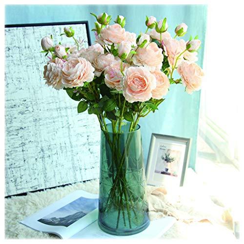 NYKK Künstliche Blume Künstliche Rosen-Blumen-Blumenstrauß-10 Köpfe Silk Blumen Rose for Home Brauthochzeitsfest-Festival (Champagner und Pink) Ewige Blume (Color : Yellow)