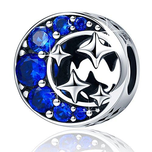 YOUFENG Jewellery 0.925 plata de ley corazón Crystal
