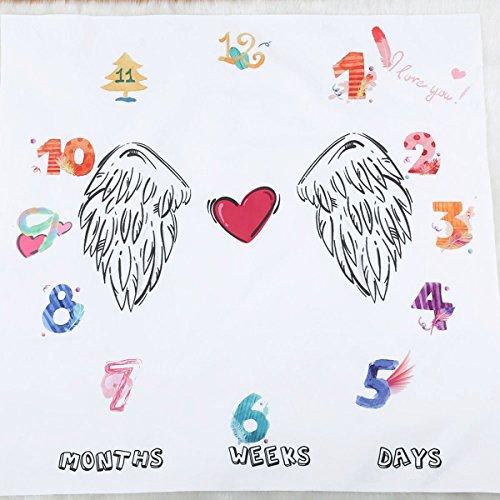 Pasgeboren Baby Swaddle Kinderwagen Beddengoed Wikkel Fotografie Prop Maandelijkse Groei Foto Mijlpaal Deken voor Dagelijks Gebruik Doppen 100 x 100 cm Baby Wing