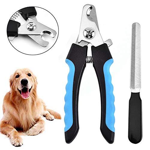 EasyULT Krallenschere für Hunde, Katzen und Kleintiere, Nagelschere Krallenpflege für Große, Mittelgroße Hunde und Katze, Profi Krallenschneider mit Safety Guard