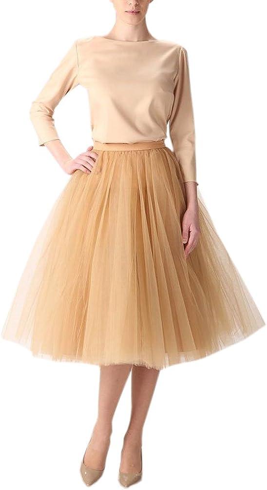 Belle House Women's Short A line Skirts Elastic Tulle Costume Dance Tutu